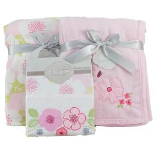 Nurture Imagination Garden District 3-piece Blanket Bundle