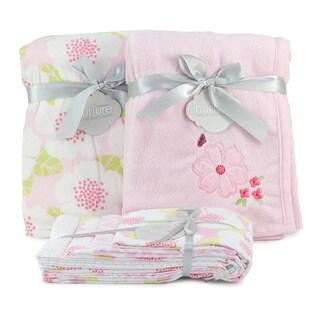 Nurture Imagination Garden District Minky Blanket Bundle