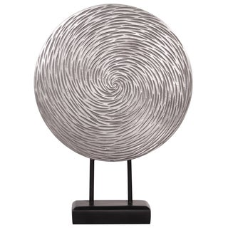 Textured Silver Sculpture