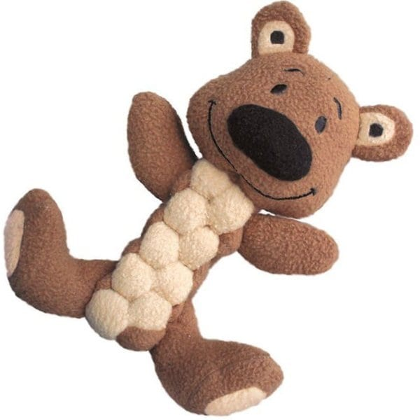 Kong Pudge Braidz Bear Dog Toy