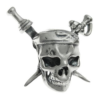 Queenberry Sterling Silver Skull European Bead Charm