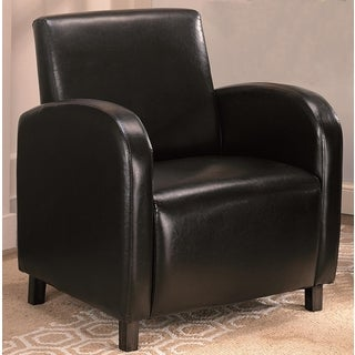 Curved Arm Dark Brown Upholstered Accent Chair