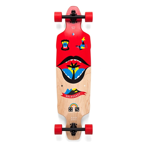 GoldCoast Watershed Drop Through Longboard Skateboard Complete