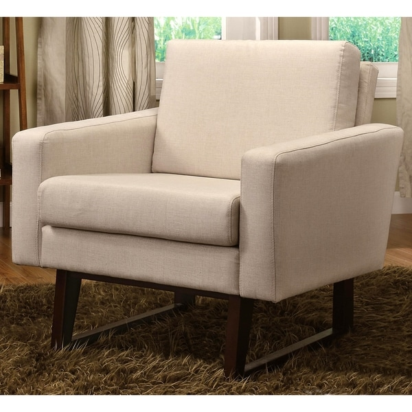 Soho Beige Modern Living Room Accent Chair