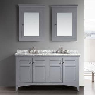 Eviva Cartwright 60-inch Grey Bathroom Vanity