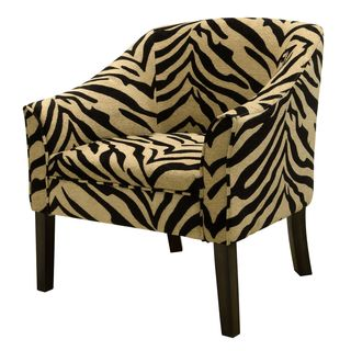 Casual Tiger Print Living room Accent Tub Chair