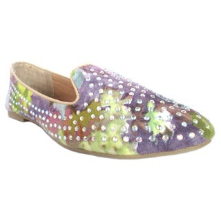 OIivia Miller 'Jasmine' All over Rhinestone Floral Smoking Shoes