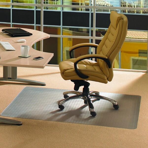 Cleartex Advantagemat PVC Rectangular Chairmat for Hard Floor & Carpet Tiles