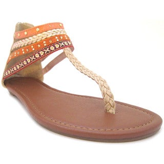 Olivia Miller 'Sekani' Aztec Bradied Studded Sandals