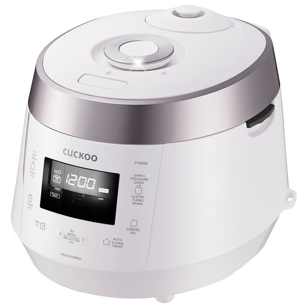 Cuckoo CRP-P1009S 10-Cup Electric Pressure Rice Cooker, 120v, (White)