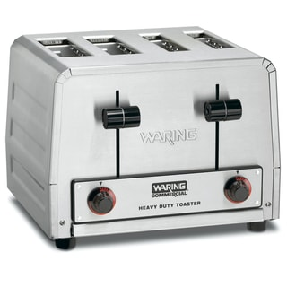 Waring Commercial WCT810 Heavy Duty Stainless Steel Bread and Bagel Combination Toaster (4 Slots) - REFURBISHED