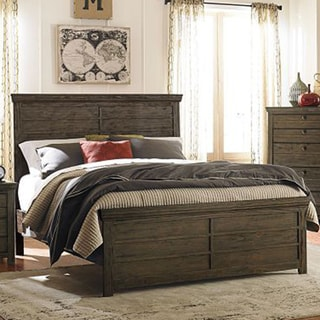 Liley Rustic Brown Finish Contemporary Style Bed