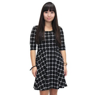 Relished Women's Check On Me Black Dress