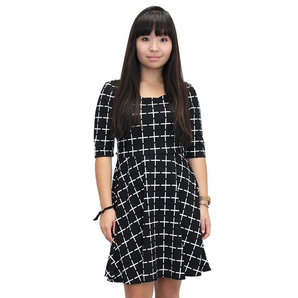 Women's Check On Me Black Dress