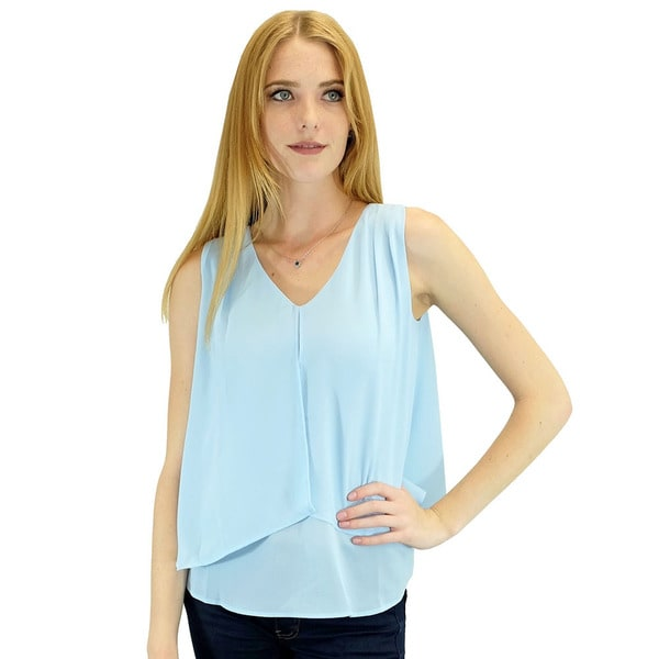Women's Gigi Blue Sleeveless Blouse