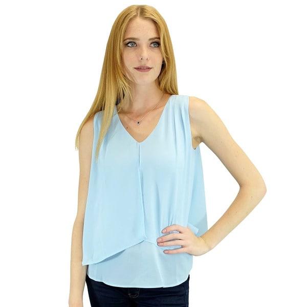 Women's Gigi Blue Sleeveless Blouse