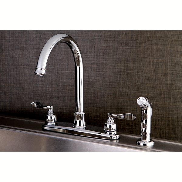 Designer Chrome Kitchen Faucet with Side Sprayer
