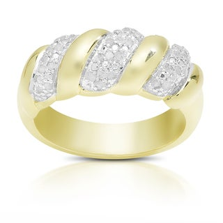 Finesque Sterling Silver 1/4ct TDW Diamond Ring (I-J, I2-I3)