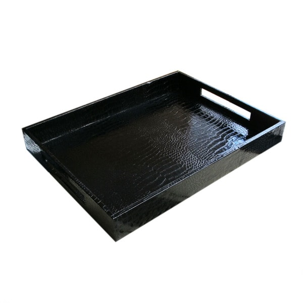 Croc Faux Leather Tray