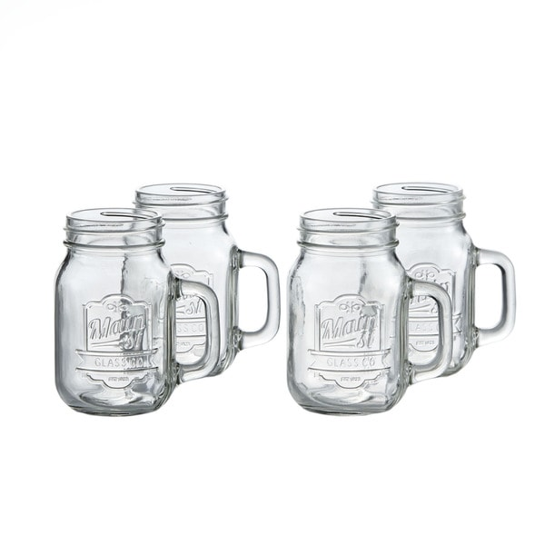 Main Street 16-ounce Mugs with Handles (Set of 4)