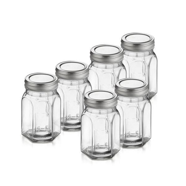 Classic Ocatagon Canning Jars (Set of 6)