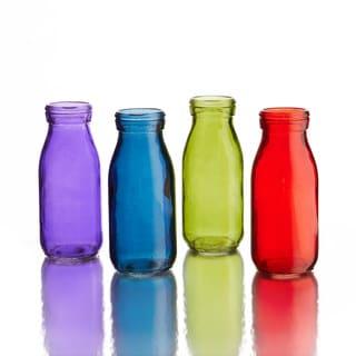 Gems Colored Glass Bottles (Set of 4)