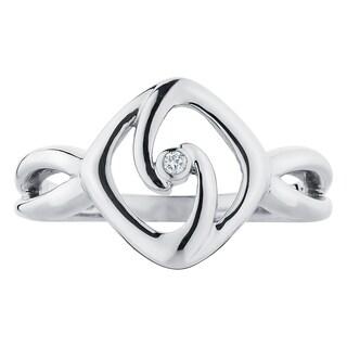 Boston Bay Diamonds Sterling Silver Diamond Accent Free Form Fashion Ring (.01 ctw)