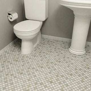 SomerTile 11.75x11.75-inch Scholar Grey Porcelain Mosaic Floor and Wall Tile (Case of 10)