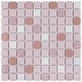 SomerTile 11.75x11.75-inch Scholar Pink Porcelain Mosaic Floor and Wall Tile (Case of 10)