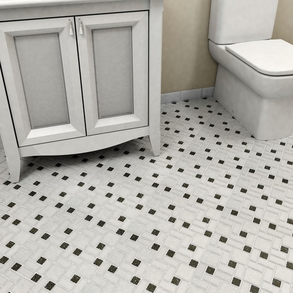 Somertile collegiate white and black for 10 inch floor tiles
