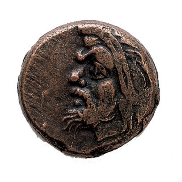American Coin Treasures Ancient Greek Bronze Devil Pan Coin