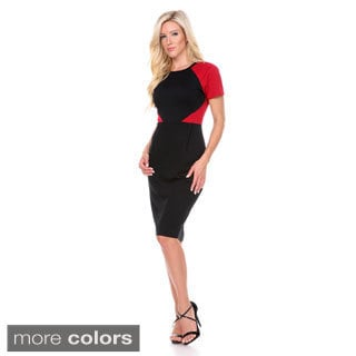 Stanzino Women's Colorblock Short Sleeve Casual Dress