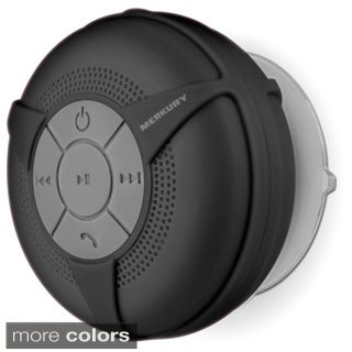 Merkury Innovations Bluetooth Wireless Suction Cup Shower Speaker with Mic