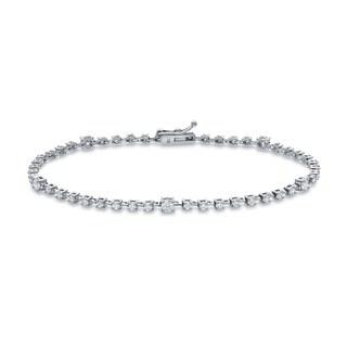 Auriya 14k White Gold 1 1/2ct TDW Round Diamond Bracelet (H-I, I1-I2)
