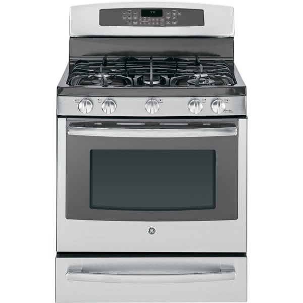 GE Profile Series 30-inch Dual-Fuel Free-Standing Range with Warming Drawer