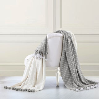 2 Pack 100-percent Cotton Cross-stitch Throws
