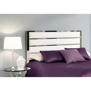 Fashion Bed Group Impulse Metal Headboard Panel with White Upholstery