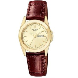 Citizen Women's EQ0562-03P Brown Leather Watch