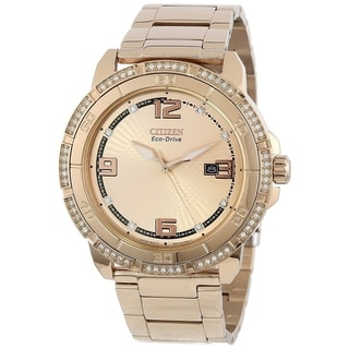 Citizen Unisex AW1343-54Q Crystal Rose-Tone Stainless Steel Watch