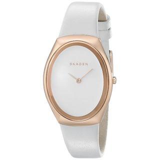 Skagen Women's SKW2296 'Madsen' White Leather Watch