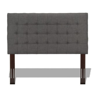 Fashion Bed Group Strasbourg Upholstered Adjustable Headboard Panel with Solid Wood Frame and Button-Tufted Design