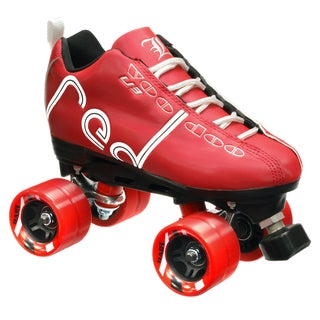 Labeda Voodoo U3 Quad Roller Customized Red Speed Skates with Dart Wheels