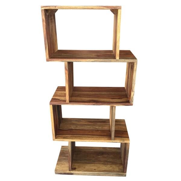 Idris Solid Wood Dark Sheesham Shelving Unit