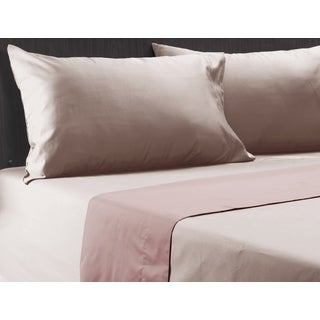 600 Thread count Cotton Rich Pink Mist 4-piece Sheet Set