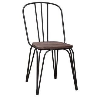 Revo Metal/ Wood Side Chair (Set of 4)