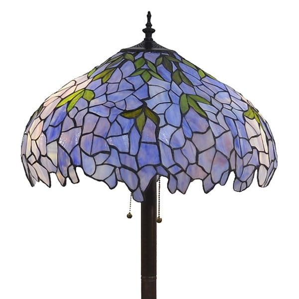 Indigo 2-Light Tiffany-style 19-inch Floor Lamp