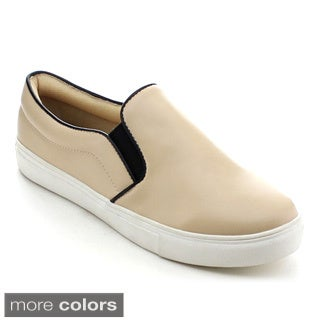 Jacobies Beverly Hills Vaness-2 Women's Basic Low Top Flat Sneakers