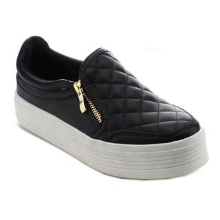 Jacobies Beverly Hills Vaness-3 Women's Zipper Slip On Low Top Sneakers