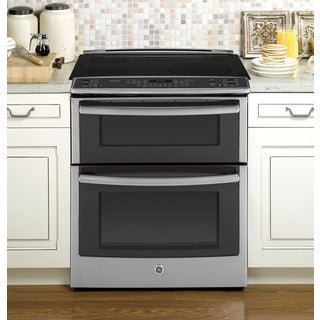 GE Profile Series 30-inch Slide-in Double Oven Electric Convection Range