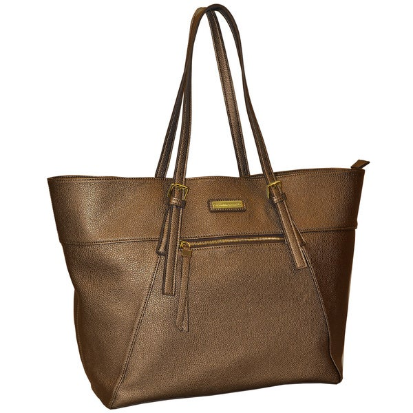 Adrienne Vittadini Metallic 13-inch Laptop Tote Bag